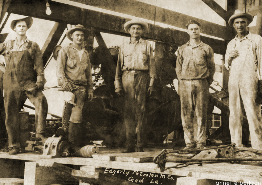 After - July 5, 1926, photo of Vincent Crew #10, Ged, LA.