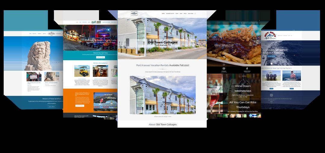 Collage of Websites designed